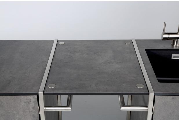 Niehoff Garden Ablage OUTDOOR-KÜCHE HPL Beton Verbindet Grill-Wagen und Spül-Wagen zu einer Küchenzeile 54x47,5cm