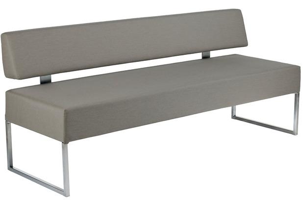 Niehoff Garden Bank NIDEN Sitz und Rücken gepolstert, beschichtet Carbon beige 180x85x64cm