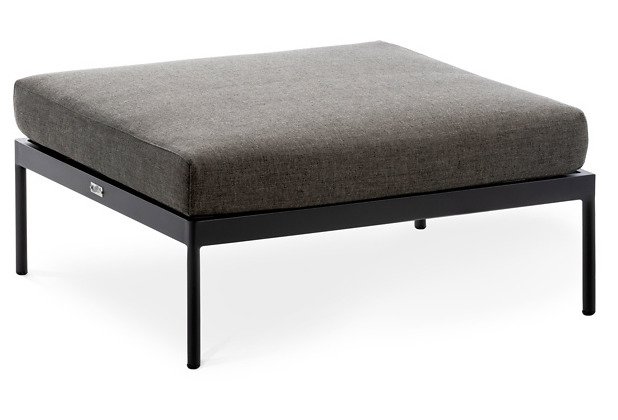 Niehoff Garden Loungegruppe AZURI Hocker Gestell Aluminium pulverbeschichtet, Farbton anthrazit 77,5x90 / 28,5cm
