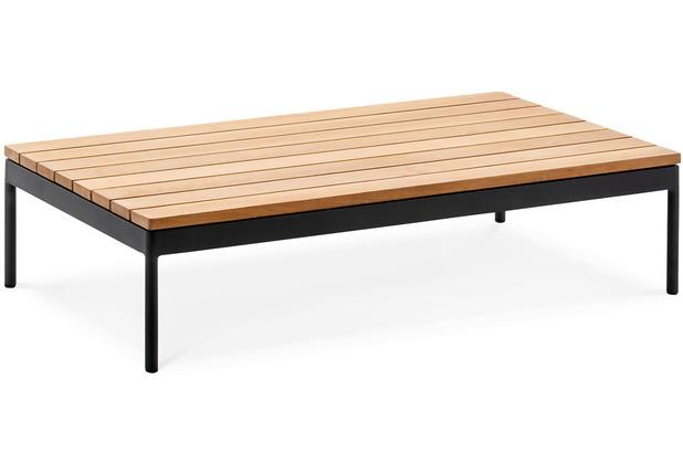 Niehoff Garden Loungegruppe AZURI Loungetisch Teak massiv geölt Gestell Aluminium pulverbeschichtet, Farbton anthrazit 120x70 / 28,5cm