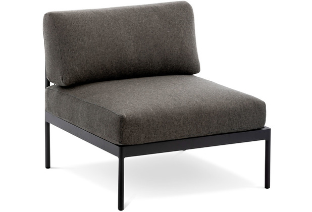 Niehoff Garden Loungegruppe AZURI Modul mitte Gestell Aluminium pulverbeschichtet, Farbton anthrazit 80x80 / 71cm
