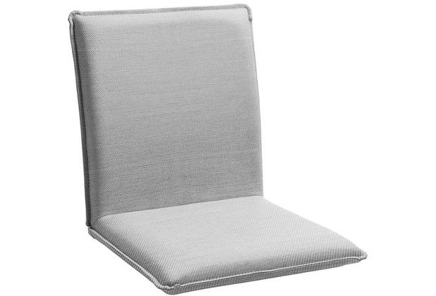 Niehoff Garden Sitzschale NETTE Sitz und Rücken in BATYLINE EDEN grau Gestell Edelstahl gebürstet 45x47x62cm