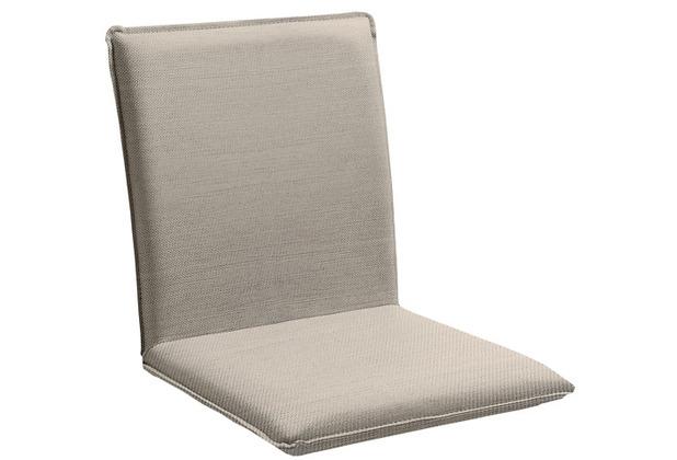 Niehoff Garden Sitzschale NETTE Sitz und Rücken in BATYLINE EDEN taupe Gestell Edelstahl gebürstet 45x47x62cm