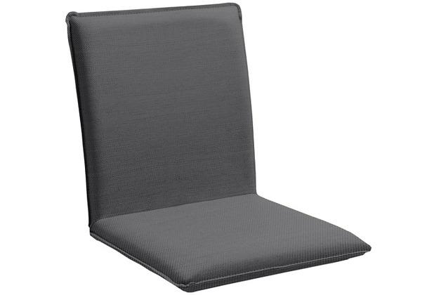 Niehoff Garden Sitzschale NETTE Sitz und Rücken in Sunbrella Natte, beschichtet Charcoal grey 45x47x62cm