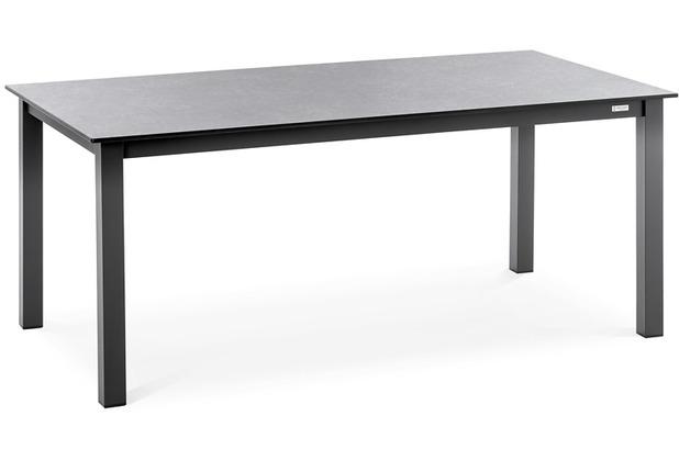 Niehoff Garden Tisch NELSON HPL Beton Gestell 4-Fuss mit Zargen Aluminium pulverbeschichtet anthrazit 173x95 / 76cm