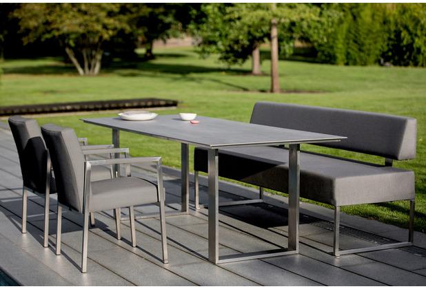 Niehoff Garden Tisch NOAH Tischplatte HPL Beton Gestell Profilkufe Edelstahl 180x95 / 76cm