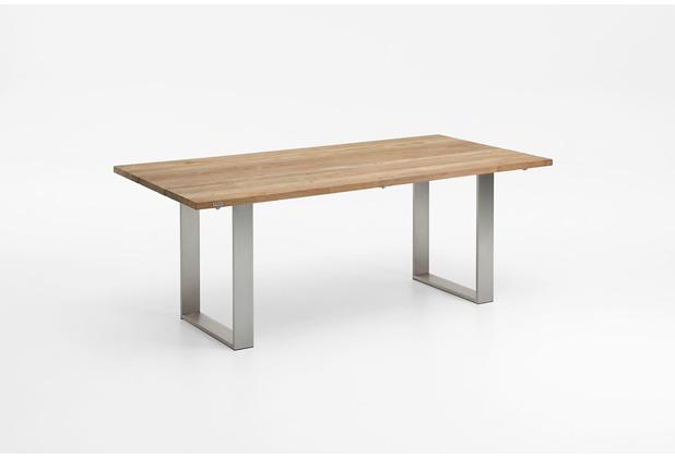 Niehoff Garden Tisch NOAH Tischplatte Teak massiv recyceld Gestell Profilkufe Edelstahl 180x95 / 76cm