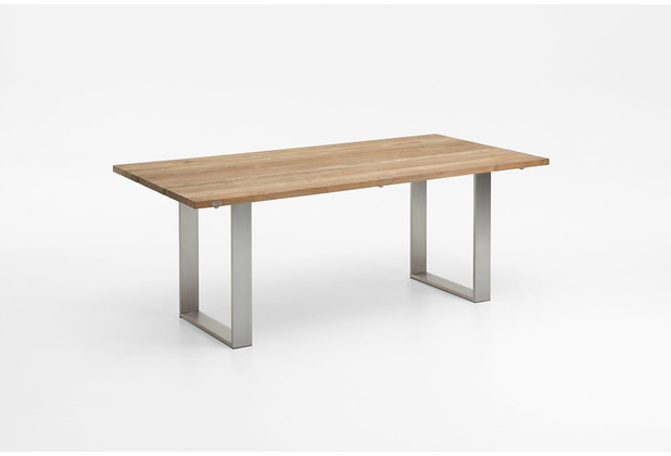Niehoff Garden Tisch NOAH Tischplatte Teak massiv recyceld Gestell Profilkufe Edelstahl 220x95 / 76cm