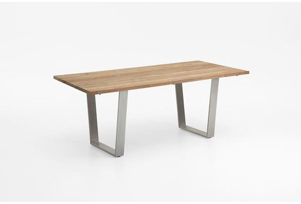 Niehoff Garden Tisch NOAH Tischplatte Teak massiv recyceld Gestell Trapezkufe Edelstahl 160x95 / 76cm