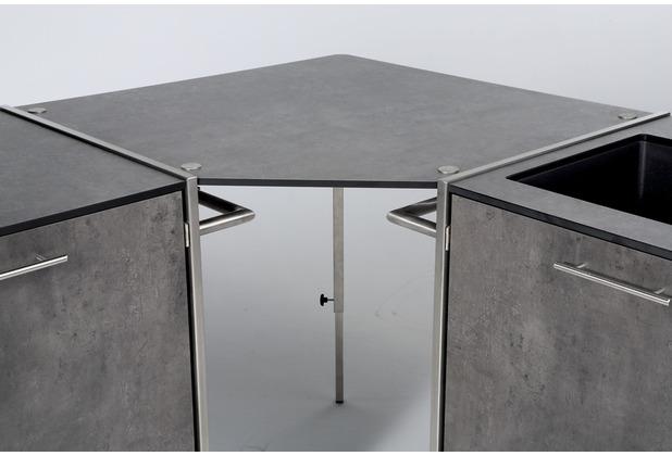 Niehoff Garden Winkelablage OUTDOOR-KÜCHE HPL Beton 82x82cm anthrazit