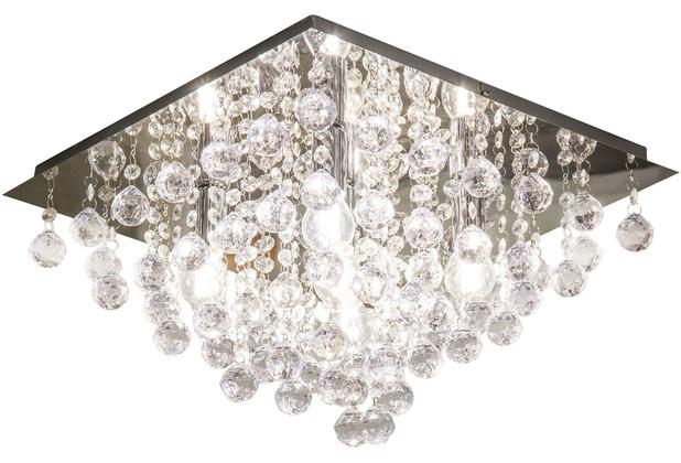 Nino Leuchten Deckenleuchte Kristall Glas chrom LONDON 63049506