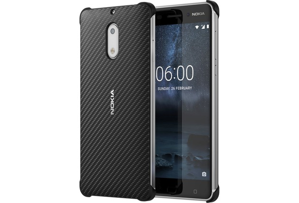 Nokia Carbon Fibre Design Case CC-802 for Nokia 6 Onyx Black