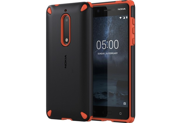Nokia Rugged Impact Case CC-502 for Nokia 5 Orange Black