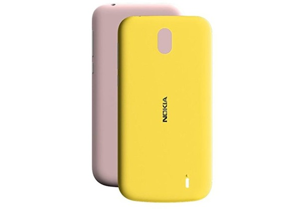 Nokia X-Press On Cover, Nokia 1, Dual Pack, pink + yellow