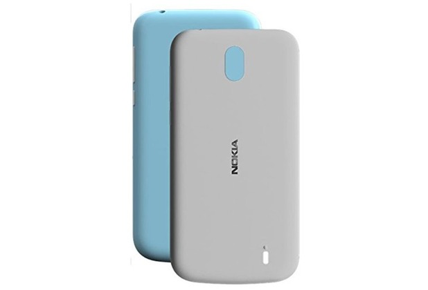 Nokia X-Press On Cover, Nokia 1, Dual Pack, azure + grey