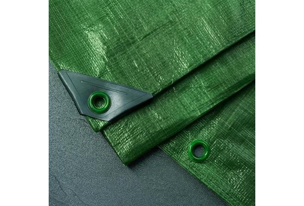 NOOR Abdeckplane Profi 140g/m² Gewebeplane ca. Größe 2x2 m Farbe grün