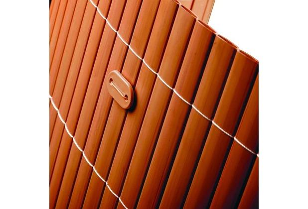 NOOR Befestigungskit für PVC Sichtschutzmatten 26 Stück Farbe braun