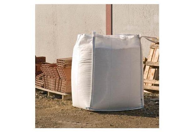 NOOR Big Bag FIBC Sack 1000 kg mit Schürze & Auslauf Beschichtung, weiß, 5:1 ca. Größe 90 x 90 x 125 cm