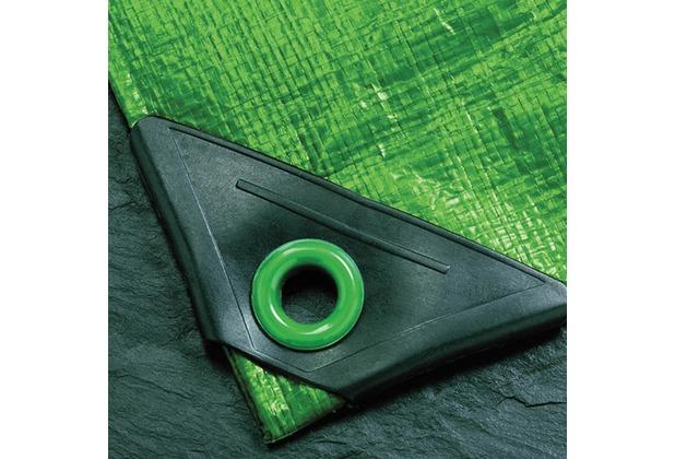 NOOR Abdeckplane Super 200g/m² Gewebeplane ca. Größe 4x6 m Farbe grün