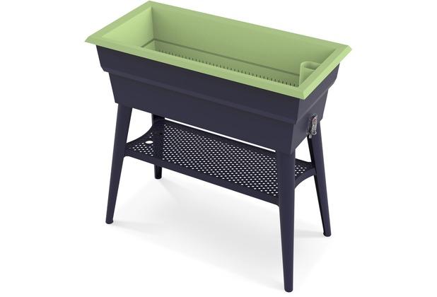NOOR Hochbeet Calipso 81x38x100cm 7 Ltr. Wasserspeicher Farbe grün