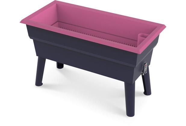 NOOR Hochbeet Calipso 81x39x50cm 7 Liter Wasserspeicher Farbe rosa