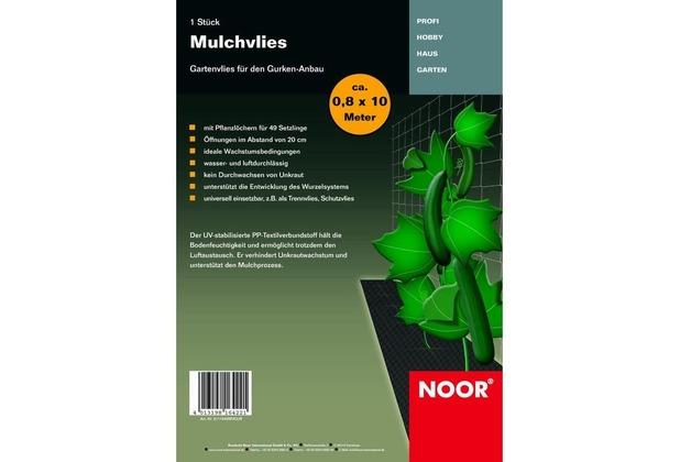 NOOR Mulchvlies für Gurkenanbau 0,8x10 m Vlies Gurken