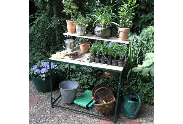 NOOR Pflanztisch Gärtnertisch Gartentisch Tisch Hampton ca. 92x59x100cm (B/T/H)