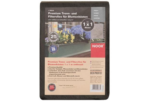 NOOR Premium Blumenkastenvlies dunkelgrau 1x1 m 90 g/m²