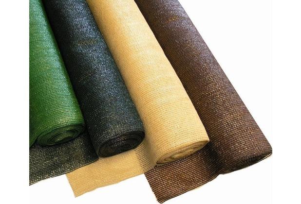 NOOR Schattiergewebe Schattiernetz Sonnenschutz 100% ca. Größe 1,00x10 m Farbe dunkelgrün
