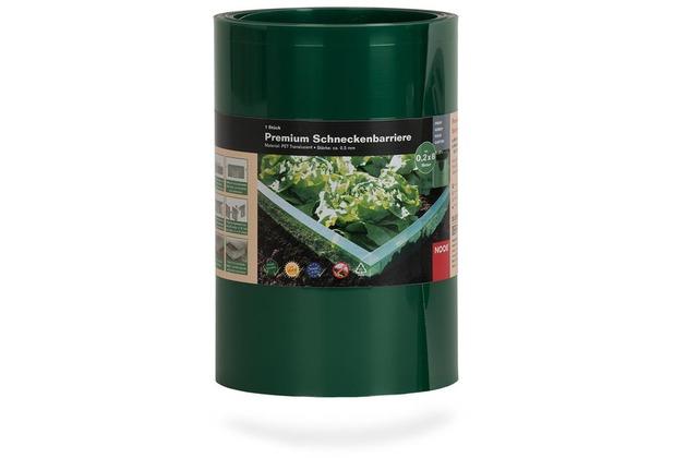 NOOR Schneckenbarriere 20 cm x 8 m Doppelfalz grün