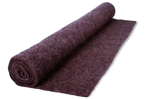 NOOR Schutzmatte aus Schafwolle Unkraut & Winterschutz ca. Größe 100 x 150 cm Farbe grau/braun