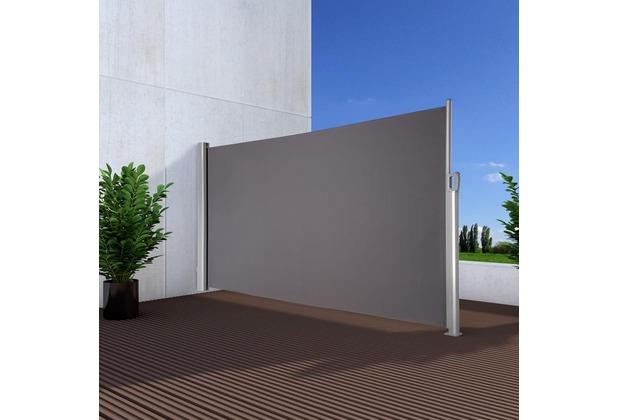 NOOR Seitenmarkise Exklusiv 100x350 cm anthrazit