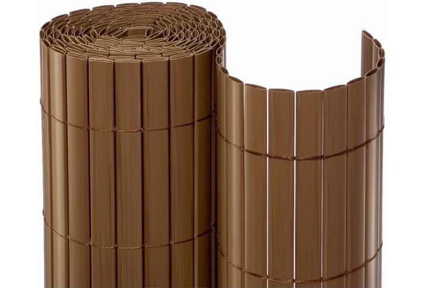 NOOR Sichtschutzmatte PVC Sichtschutz Kunststoff ca. Größe 0,90x3 m Farbe braun