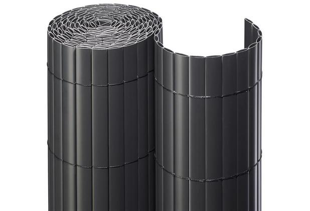 NOOR Sichtschutzmatte PVC Sichtschutz Kunststoff ca. Größe 0,90x3 m Farbe anthrazit