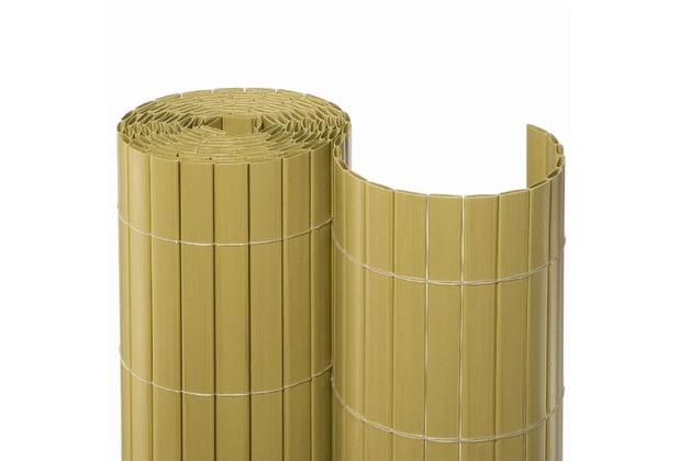 NOOR Sichtschutzmatte PVC Sichtschutz Kunststoff 10m ca. Größe 0,90x10 m Farbe bambus