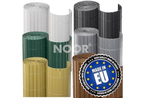 NOOR Sichtschutzmatte PVC Sichtschutz Kunststoff 3m ca. Größe 0,90x3 m Farbe sand