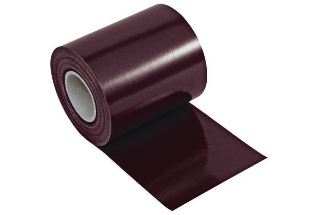 NOOR Sichtschutzstreifen PVC Zaunblende 0,19x35 m Zaun Farbe mahagonibraun (RAL 8016)