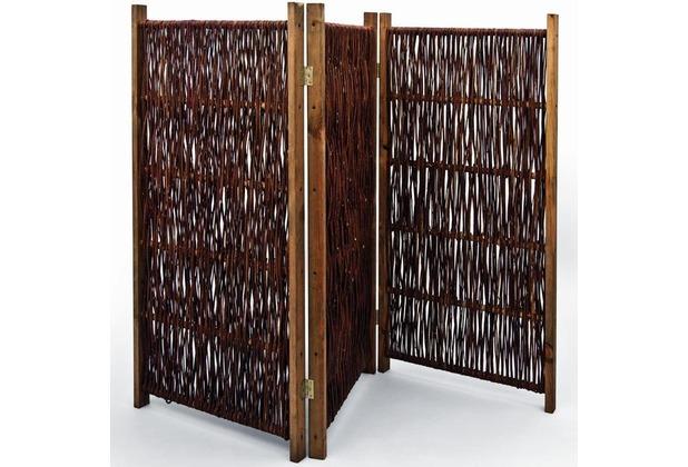 NOOR Weiden-Paravent ca. Größe (HxB) 120 x 180 cm 3-teilig