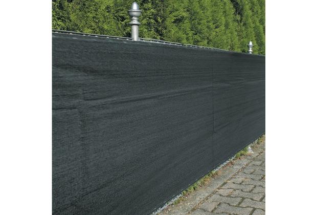NOOR Zaunblende Sichtschutz Winddurchlässig anthrazit ca. Größe 1,8x5 m