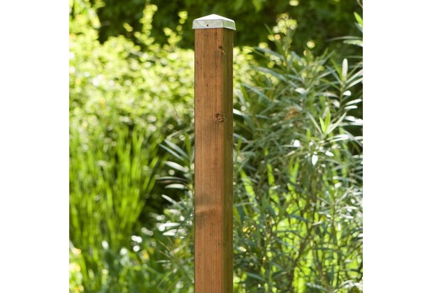 NOOR Zaunpfosten braun (f. Weide und Haselnuss) ca. Höhe 130 cm