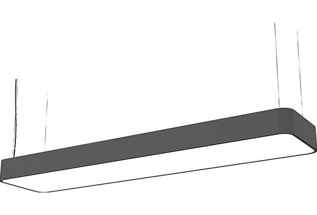 Nowodvorski SOFT LED GRAPHITE 90X20 zwis grau