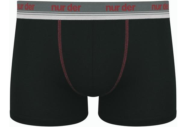 nur der Boxer Cotton Stretch-384 schwarz/rot 5 = M