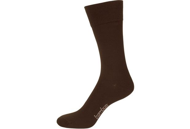 """nur der Herren \""""Bambus Komfort Socke\"""" braun 39-42"""