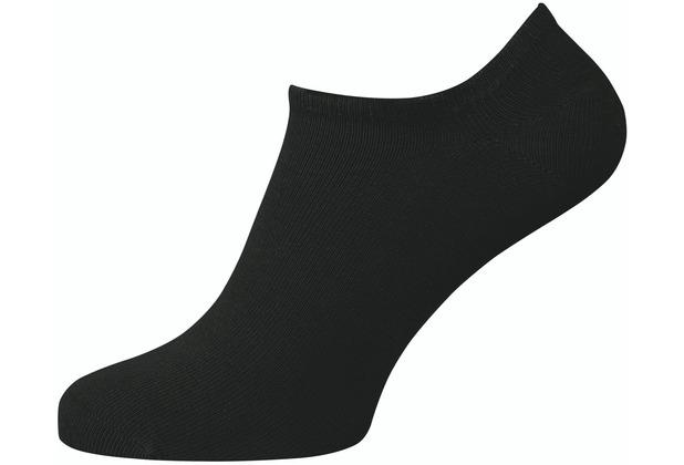 """nur der Herren \""""Sneaker Baumwolle 2er Pack\"""" schwarz 39-42"""