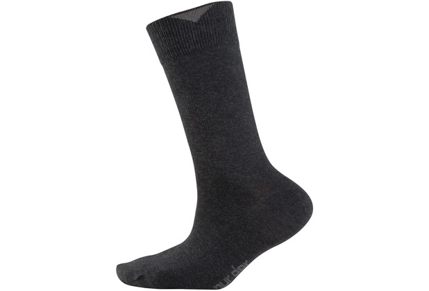 """nur der Herren \""""Baumwolle Business Socke 2er Pack\"""" anthrazitmel. 39-42"""
