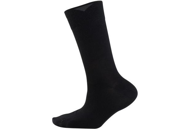 """nur der Herren \""""Baumwolle Business Socke 2er Pack\"""" schwarz 39-42"""