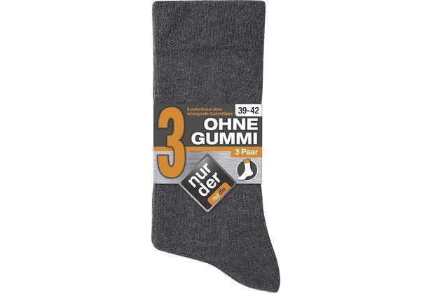 """nur der Herren \""""Ohne Gummi Socken 3er\"""" mittelgraumel. 39-42"""