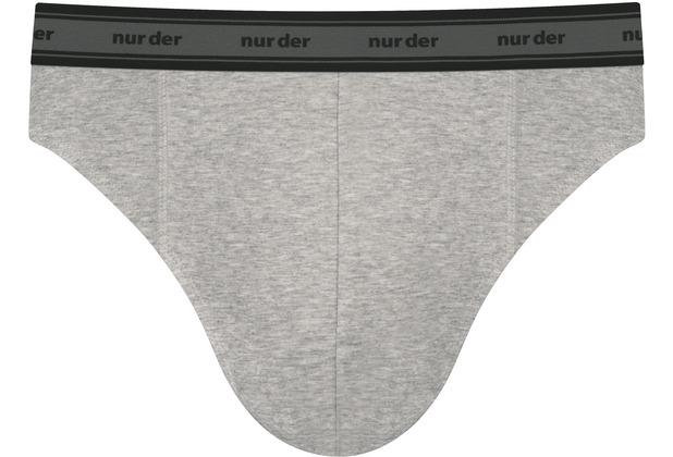 nur der Slip GOTS Organic Cotton 2er Pack grau melange 5=M