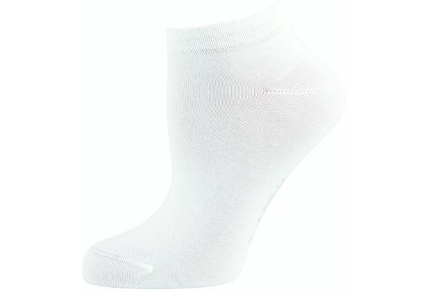 """nur die Damen \"""" 3in1 Effekt Sneaker Socke\""""  weiß 35-38"""