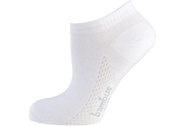 """nur die Damen \""""Bambus Sneaker Socke\"""" weiß 35-38"""
